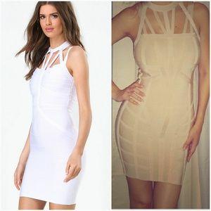 Bebe strappy bandage dress